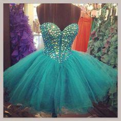 Short Dark Blue Bead Tulle Prom Dress Custom Dress Sweetheart Knee-length Formal Dress Homecoming Dress Party Dress Cocktail Dress 2014