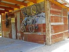 For my rear fence - Barnwood Naturals, LLC - Reclaimed Vintage Woods - Reused Siding Metal Shed, Rusty Metal, Tuff Shed, Corrugated Tin, Pump House, Metal Siding, Artistic Installation, Game Room Decor, Reclaimed Timber