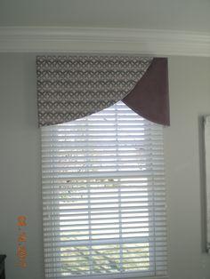 Super home office window treatments fabrics 37 Ideas Valences For Windows, Window Cornices, Valance Window Treatments, Custom Window Treatments, Window Coverings, Bay Windows, Window Seats, Curtain Styles, Curtain Designs