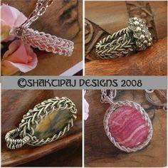 Celtic+Braid+Pendant+Coiled+Wire+and+Gemstone+por+ShaktipajDesigns,+$10,00