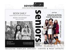 Magazine Template Senior Magazine Cover by SavantDesign on Etsy