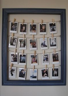 Cute DIY Room Decor Ideas for Teens - DIY Bedroom Projects for Teenagers - DIY Photo Frame Tutorial Schlafzimmer Dekor Diy 37 Insanely Cute Teen Bedroom Ideas for DIY Decor