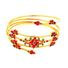 Emerald | Ruby & Emerald Spring Bangle | GRT Jewellers