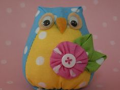 Polka Dot Pineapple: owl toy