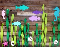 Fish Cutouts - Under The Sea Party, Baby Shower, Birthday Party, Beach Party, First Birthday, Photo Prop