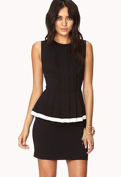 Striking Peplum Dress | FOREVER21 - 2000051784