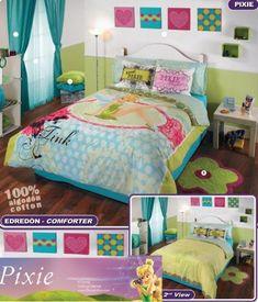 (Click to order - $195.99) Tinkerbell Comforter Bedding Set Full From Disney