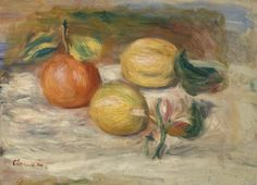 Lemons and Orange (Citrons et orange) - Pierre-Auguste Renoir. 1910 Barnes Foundation, Philadelphia PA #vanGogh #barnesmuseum