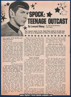 In 1968, Leonard Nimoy was moved by a girl's difficulty fitting in, so he wrote to her about how Spock overcame prejudice.