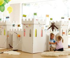 this is a coloring cardboard playhouse castle! can i be a kid again ...