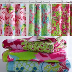 Lilly Pulitzer Home Collection for Garnet Hill- Shower Curtain & Towels