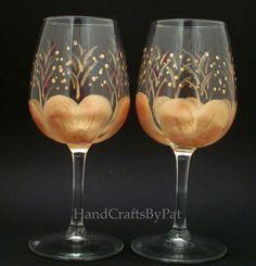 Glassware - Wine Glasses: Vermeil> Anniv. Mike & Elda - Unique Gifts - HandCraftsByPat
