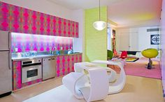 Great New York apartment with bright colors by Karim Rashid