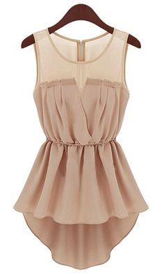 Pink Sleeveless Back Zipper Bandeau High Low Dress US$22.13