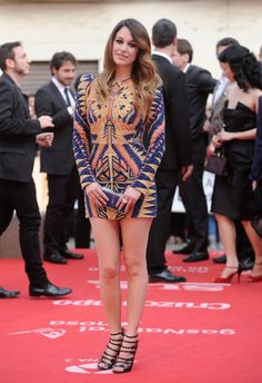 Blanca Suarez in Balmain´s dress, april 2012