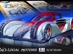 SketchWall Challenge: LM LeMans LMP1 Car 2014 Redux | Local Motors