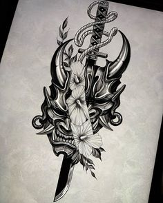 Koi Tattoo Design, Japan Tattoo Design, Japanese Tattoo Designs, Tattoo Design Drawings, Tattoo Sleeve Designs, Tattoo Designs Men, Sleeve Tattoos, Geisha Tattoo Design, Samurai Mask Tattoo