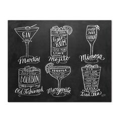This cocktail guide is a cute and useful print! It would make a lovely addition to your kitchen or bar decor.