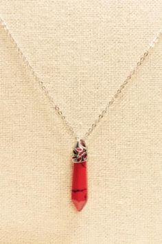 Pointed Cut Semi Precious Stone Necklace
