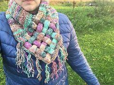 Ristiinrastiin PunosKaulatin - Starbox Plaid Scarf, Cowl, Free Pattern, Scarves, Crochet, Shawls, Fashion, Scarfs, Moda