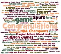 The Miami Heat won the NBA Championship last night and created a fire on the social web with 52% of the chatter happening on Twitter and 19% of the conversation taking place in Florida, of course