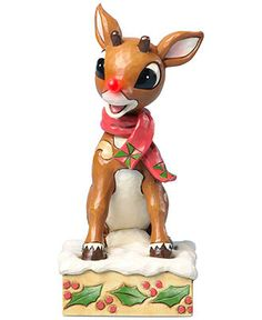 Jim Shore Collectible Figurine, Rudolph with Blinking Nose