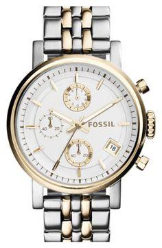 http://www.sweatertrends.com/category/fossil-watch-women/ Women's Fossil 'Original Boyfriend' Chronograph Bracelet Watch, 38mm