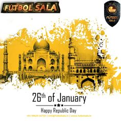 Futbolsala wishes a blessed and Happy 69th republic day 2018 to fellow Indians. Way to reach much more heights to develop our country to prosperous and healthy one in the world.  Jai Hind!!! #26jan #peace #enjoy #jaihind #tricolour #india #indian #hindustan #delhi  #1950  http://www.futbolsala.in/