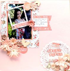 I remembered that I had this Teresa Collins collection and thought it would go perfectly with her dress. Using up lots of my flowers too. Brads, pearls, r Scrapbook Supplies, Scrapbook Pages, Teresa Collins, My Flower, Flowers, Sweet Girls, Scrapbooks, Project Ideas, Projects