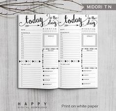 Para imprimir diario de bala Planner por HappyDigitalDownload