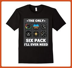 Mens Only Six Pack I'll Need T-Shirt Funny Pilot Tee XL Black - Funny shirts (*Partner-Link)