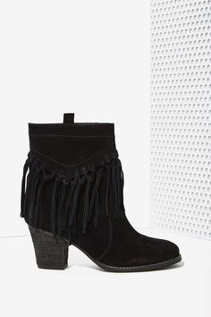 Sbicca Sound Suede Booties in Black