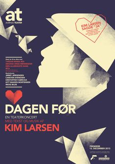 The Day Before - Kim Larsen Theater poster by Mads Berg, via Behance