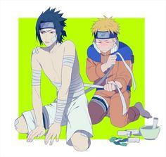 young Sasuke and Naruto Sasunaru, Naruto Uzumaki Shippuden, Narusasu, Anime Naruto, Naruto Sasuke Sakura, Naruto Cute, Gaara, Chica Anime Manga, Kawaii Anime
