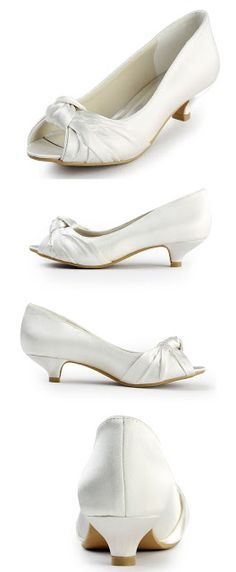 vory wedding shoes Elegantpark EP2045 Women's Peep Toe Low Heel Knot Bridal Wedding Shoes $49.95 & FREE Returns on some sizes and colors.
