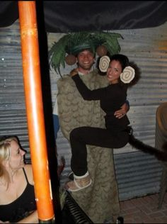 Monkey and Palm Tree Couple Halloween Costume