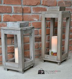 Cannot wait to build this! Love these DIY Rustic lantern - tutorial and video how to