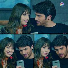 Turkish Men, Turkish Beauty, Turkish Actors, Lincoln And Octavia, Drama Tv Series, Man Bun, Romantic Couples, Full Moon, Action