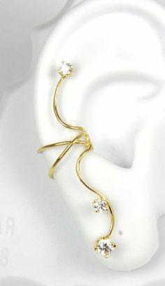 Gold Vermeil 3 Cubic Zirconia Full Ear Cuff Right Pierceless Ear Charms, http://www.amazon.com/dp/B00959TYTA/ref=cm_sw_r_pi_dp_fczVqb0S39MWH
