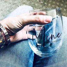 MINE wine glass from Metal Marvels #wine #homebar #shop