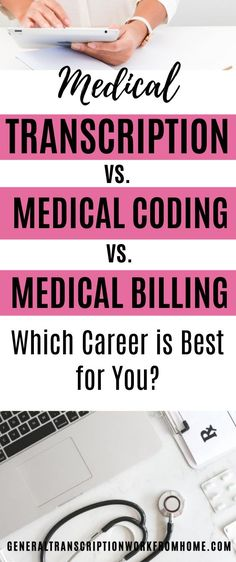 Medical Transcription vs Medical Coding vs Medical Billing. Which medical career is best for you? What are the differences? #medicalbilling #medicalcoding #MedicalTranscription #medical  #medicalcareers #healthcare #careers #MT #workfromhome #remotejobs #onlinejobs #workathomejobs #workathome  #makemoneyonline #makemoneyfromhome Online Side Jobs, Best Online Jobs, Healthcare Careers, Medical Careers, Medical Coder, Medical Billing And Coding, Legitimate Work From Home, Work From Home Jobs, Pharmacy Assistant