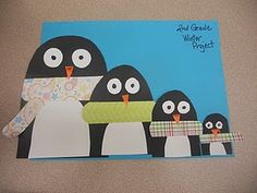 Penguin Family Art from www.bluemoonpalette.blogspot.com