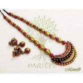 handmade-designer-terracotta-jewelry-big-set-tsd501 Maitri Crafts www.maitricrafts.com https://www.facebook.com/maitricrafts.maitri