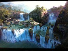 Magnifique tableau réalisé par les designeur de Uncharted 3 - Drake Fortune.