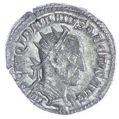 Traianus Decius Antoninian Römische Kaiserzeit Traianus Decius 248 - 251 Av: IMP C M Q TRAIANVS DECIVS AVG drapierte und gepanzerte Büste mit Strahlenkrone nach rechts, Rv: ABVNDANTIA AVG Abundantia steht rechts, leert Füllhorn