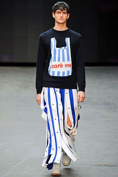 WTF Looks from London Men's Fall 2015 | Hint Fashion Magazine - Christopher Shannon