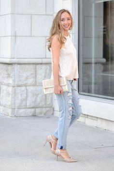 Two ways to wear boyfriend jeans