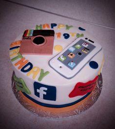 Super fun social media cake!