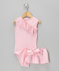 Take a look at this Pink Malia Leotard & Wrap Skirt - Toddler & Girls by Orangia Blossom on #zulily today!