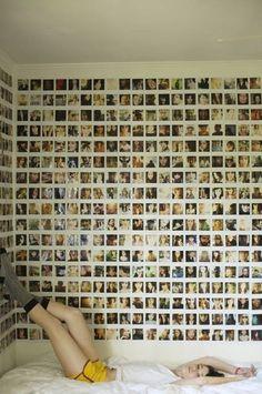 Un mur de photos dans la chambre de nos ados !